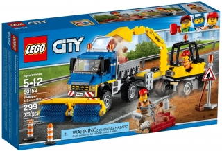 LEGO City Great Vehicles 60152 Zametací vůz a bagr