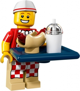 LEGO Minifigurky 71018 Creator 17. série Hot Dog Man